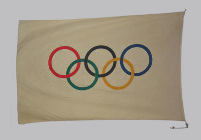 Autographed flag, 1956 Olympic Games