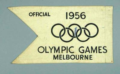 Car pennant, 1956 Olympic Games Official