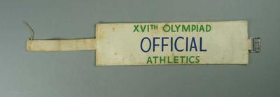 1956 Olympic Games Athletics Official arm band