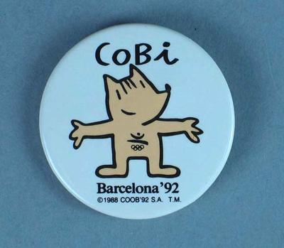 Cobi Mascot Badge -  the official 1992 Barcelona Olympic Games Mascot