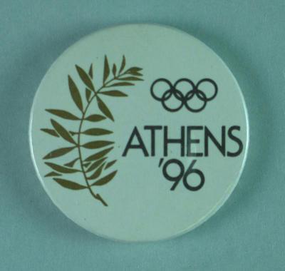 Badge, Athens 1996 Olympic Games bid