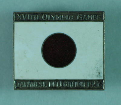 Badge, 1956 Olympic Games Japanese Delegation