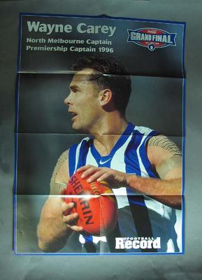 Poster - 1998 Grand Final Premiership Captains Wayne Carey & Mark Bickley