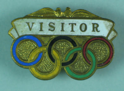 Visitor badge, 1956 Olympic Games