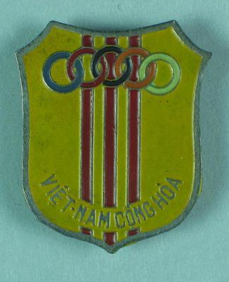 Badge, Vietnam 1956 Olympic Games team