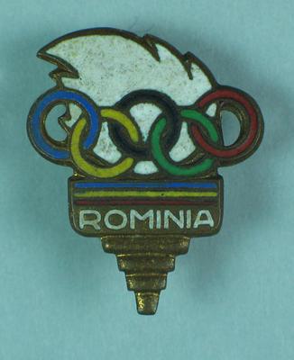 Badge, Romania 1956 Olympic Games team