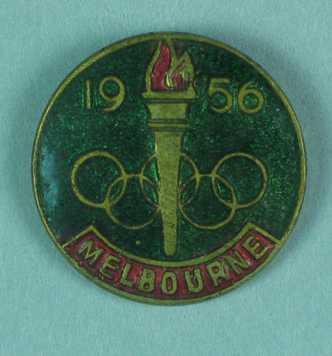 Lapel pin, 1956 Melbourne Olympic Games