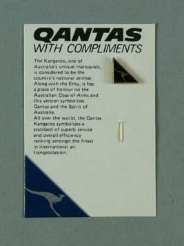 Eight stick pins, Qantas design; Clothing or accessories; 1992.2715.36