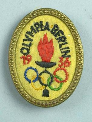 Lapel pin, 1936 Berlin Olympic Games