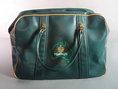 Australian team bag, 1968 Mexico City Olympic Games; Personal effects; 1992.2582.32