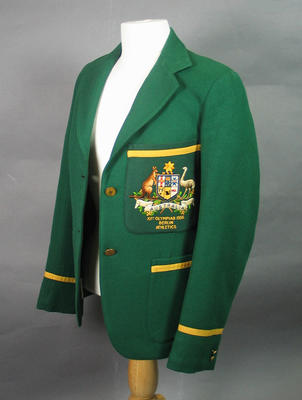 1936 Olympic Games Australian team blazer, worn by Doris Carter