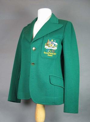 1972 Olympic Games Australian team blazer, worn by Raelene Boyle; Clothing or accessories; 1986.1110.1