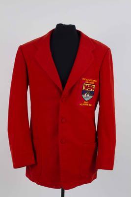 North Borneo 1956 Olympic Games blazer, worn by John Walne