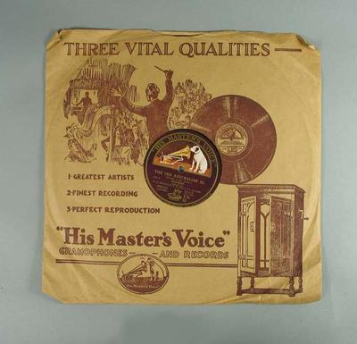 Vinyl record, speeches made by members of the 1930 Australian Cricket Team