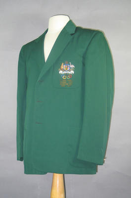 Blazer, 1960 Australian Olympic Games team; Clothing or accessories; 1994.2980.37