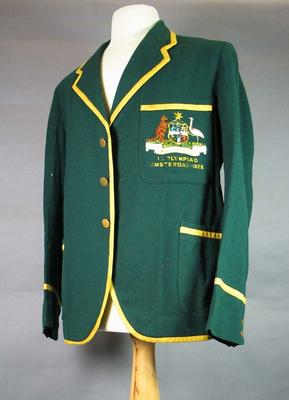 Blazer worn by Harry Morris, 1928 Australian Olympic Games team