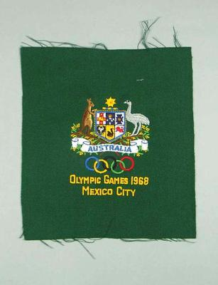 Blazer pocket, 1968 Olympic Games Australian team