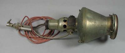 Heat lamp, used by masseur Henry Best in early twentieth century