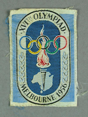 White Badge with Olympic Logo Melbourne 1956