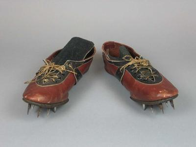 Spiked running shoes, worn by Marjorie Jackson during 1952 Olympic Games