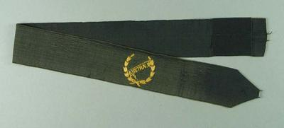 Australian Olympic Team hat band, believed to have been worn by Lily Beaurepaire in 1920