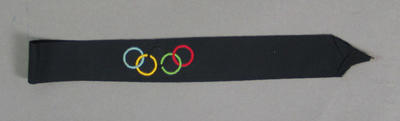 Hat band, coloured Olympic Rings design