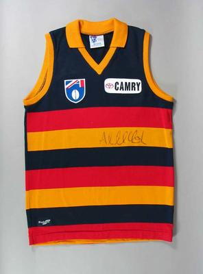 Adelaide Crows FC guernsey, autographed by Andrew McLeod