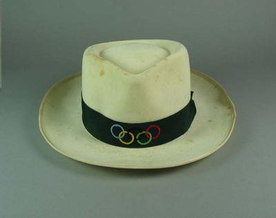 Panama hat, worn by 1956 Olympic Games Australian team member Brian Dawes