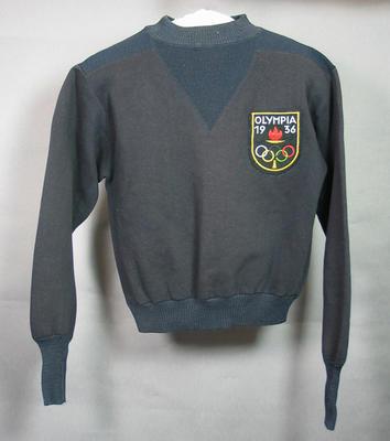 1936 Olympic Games dark blue long sleeved jersey, worn by Doris Carter