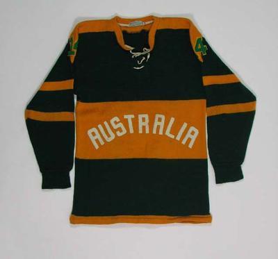 Australian ice hockey jersey, 1960 Olympic Games