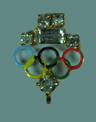 1956 Olympic Games souvenir earrings