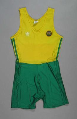 Rowing suit, worn during 1000m Kayak pairs at 1988 Olympic Games