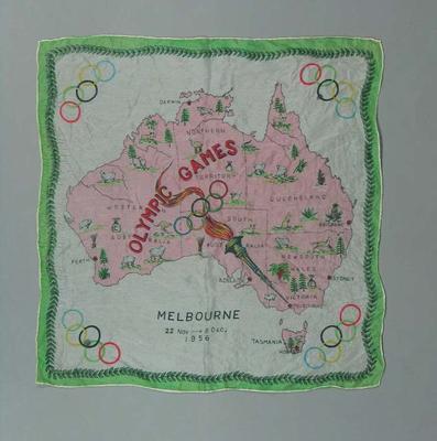 1956 Olympic Games souvenir scarf