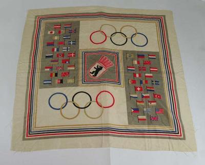 Silk scarf, 1936 Olympic Games