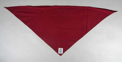 Maroon Cotton Scarf worn by Max Nathan at 1956 Olympic Fencing events