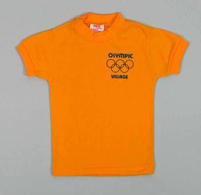 Child's Yellow T-Shirt with Olympic Village Logo & Rings
