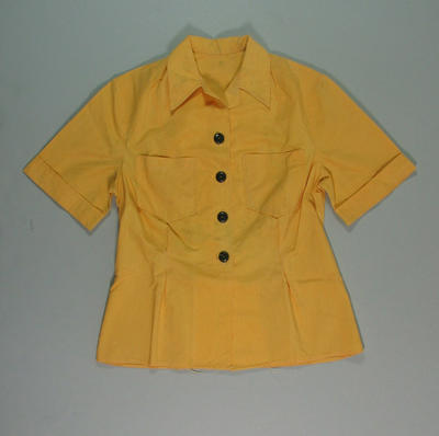 Blouse, worn by 1956 Olympic Games drivers