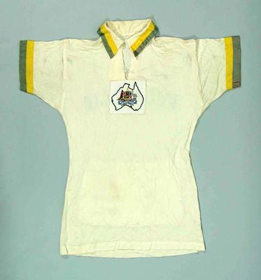 Cycling shirt, worn by Peter Nelson at 1952 Olympic Games