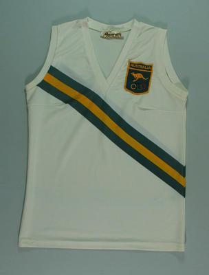 1972 Olympic Games Australian team athletics singlet, worn by Pam Kilborn