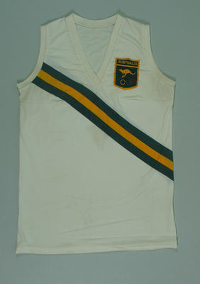 1972 Olympic Games Australian team athletics singlet, worn by Raelene Boyle