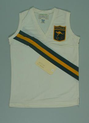 1972 Olympic Games Australian team singlet, worn by Raelene Boyle
