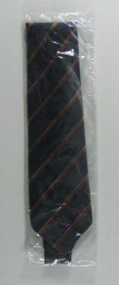 Tie, navy blue with Olympic stripes