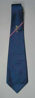 Tie, navy blue with Olympic logo