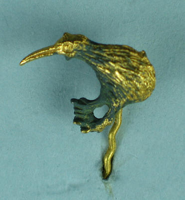 Tie tack or stick pin, gold kiwi