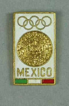 Tie tack, 1968 Mexico City Olympic Games