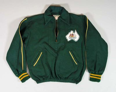 1956 Olympic Games Australian team official tracksuit top, worn by Doris Carter