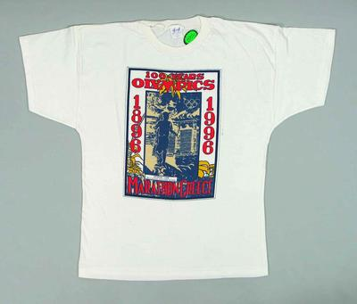 T-shirt, Athens Bid for 1996 Olympic Games