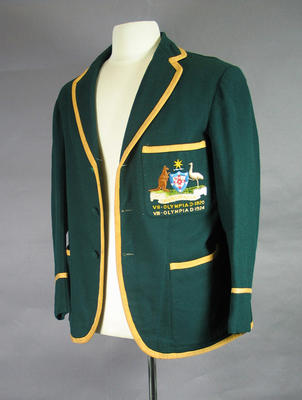 Australian team blazer worn by Ivan Stedman, 1920 & 1924 Olympic Games