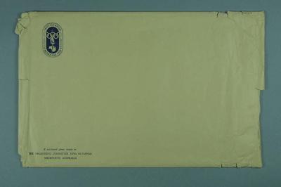 Envelope, 1956 Olympic Games logo