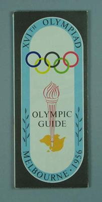 Map of Melbourne, 1956 Olympic Games; Documents and books; 1994.2983.29